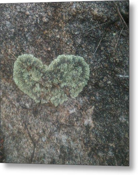 Moss Heart  Metal Print