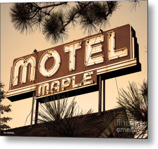 Motel Maple Metal Print