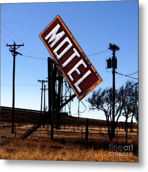 Motel - Route 66 Metal Print