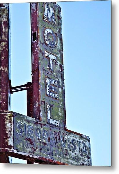Motel Sierra Vista Vintage Neon Sign Metal Print