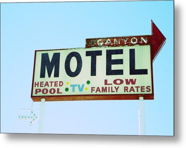 Motel Sign Metal Print