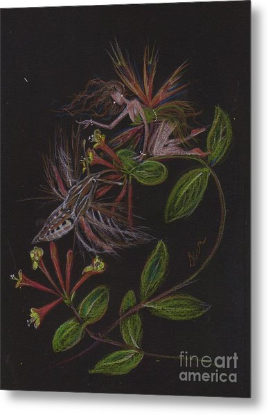 Moth Wing Touch Metal Print