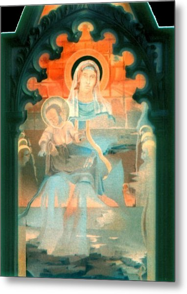 Mother And Child By Fabriano 1975 Metal Print by Glenn Bautista