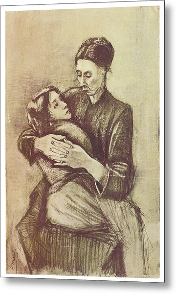Mother And Child Metal Print by Vincent Van Gogh