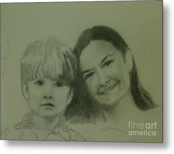 Mother And Son Metal Print by Frankie Thorpe