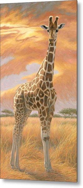 Mother Giraffe Metal Print