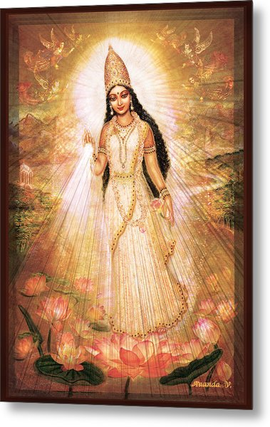 Mother Goddess With Angels Metal Print