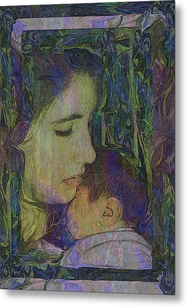 Mother Love Of Father Heart Metal Print