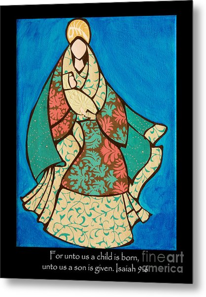Mother Mary And Baby Jesus Metal Print
