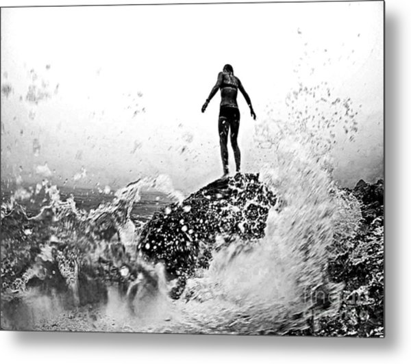 Mother Natures Fury Metal Print by Scott Allison