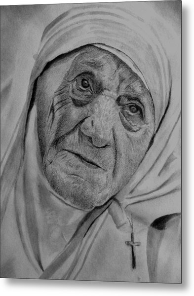 Mother Theresa-close Up Metal Print