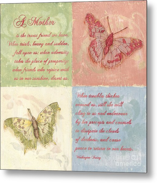 Mothers Day Butterfly Metal Print