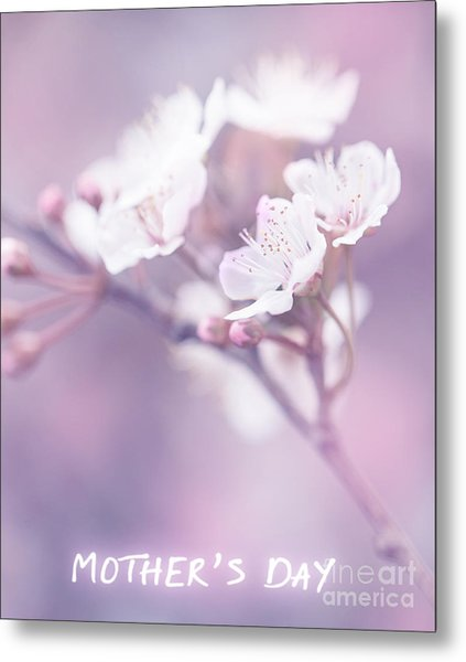 Mother's Day Greeting Card Metal Print