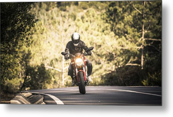Motorbiking In Sintra Metal Print by Enrique Díaz / 7cero