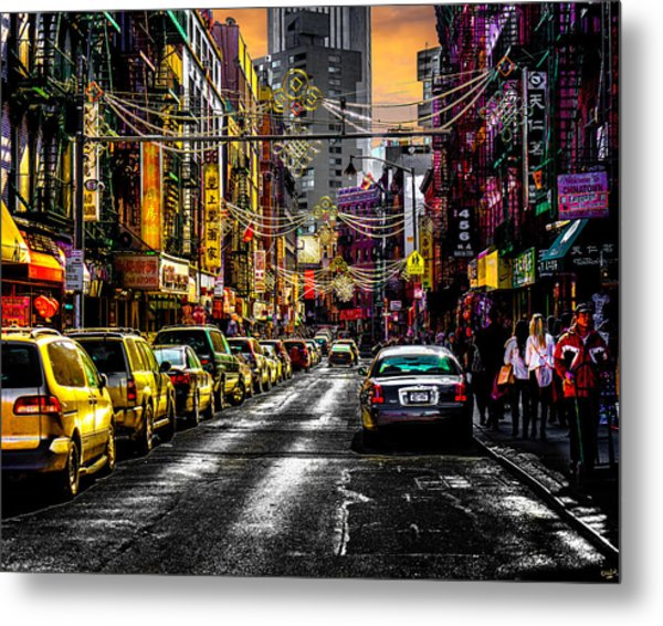 Metal Print featuring the photograph Mott Street by Chris Lord