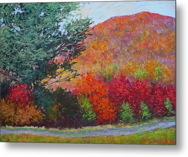 Moungtains In September Metal Print by Julia Lesnichy