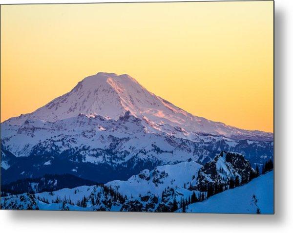 Mount Adams Sunset Metal Print