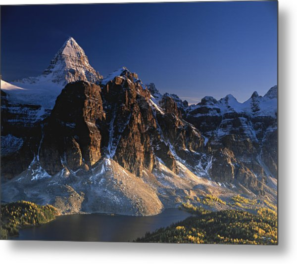 Mount Assiniboine And Sunburst Peak At Sunset Metal Print