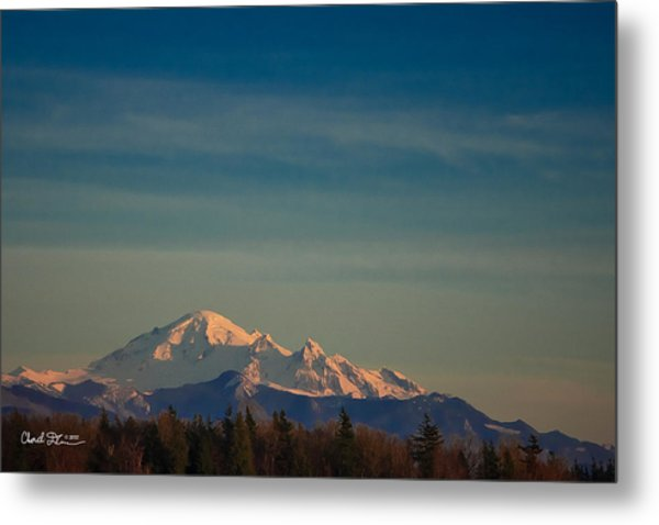 Mount Baker Sunset Metal Print