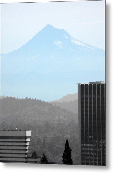Mount Hood In Fall Metal Print