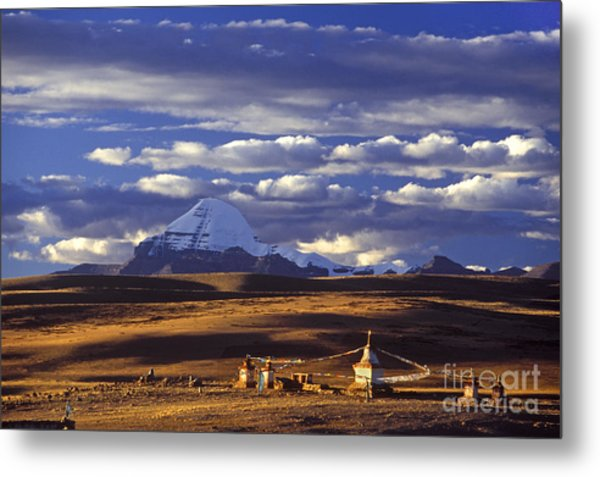 Mount Kailash And Chiu Gompa - Tibet Metal Print