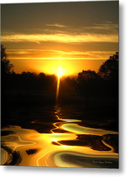 Mount Lassen Sunrise Gold Metal Print