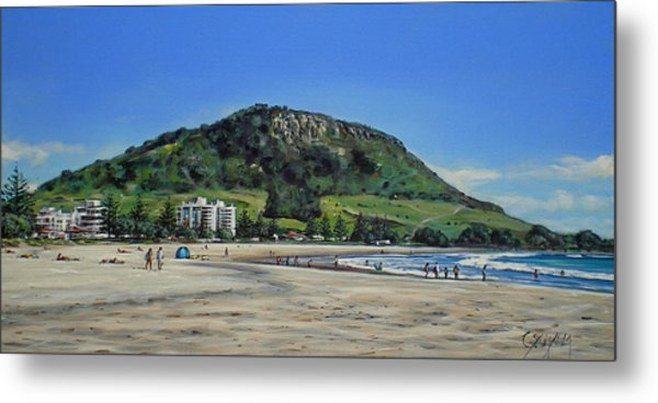 Mount Maunganui Beach 151209 Metal Print