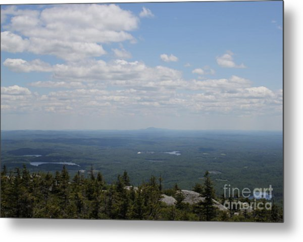 Mount Monandock Summit View Metal Print