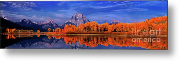 Mount Moran And Fall Color Grand Tetons Metal Print