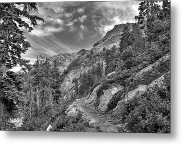 Mount Pilchuck Black And White Metal Print