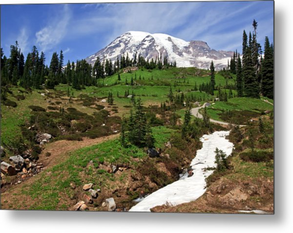 Mount Rainier At Paradise Metal Print