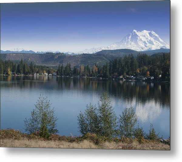 Mount Rainier In The Fall Metal Print