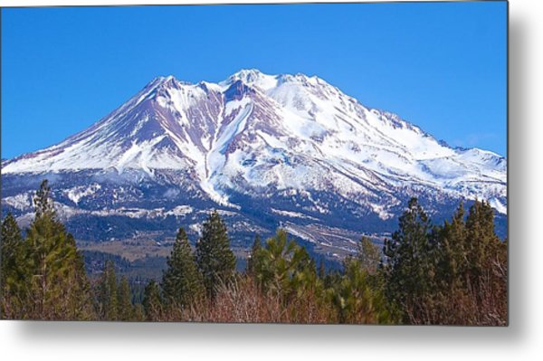 Mount Shasta California February 2013 Metal Print