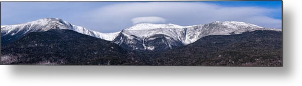Metal Print featuring the photograph Mount Washington And The Ravines Winter Pano by Jeff Sinon