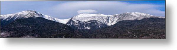 Mount Washington And The Ravines Winter Pano Metal Print