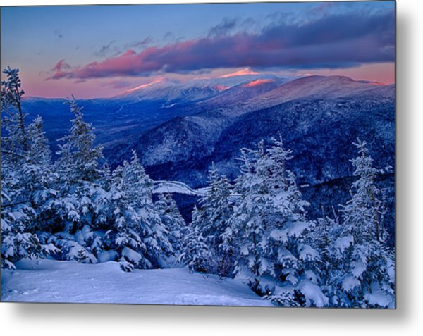 Metal Print featuring the photograph Mount Washington In The Evening Light From Mt Avalon by Jeff Sinon