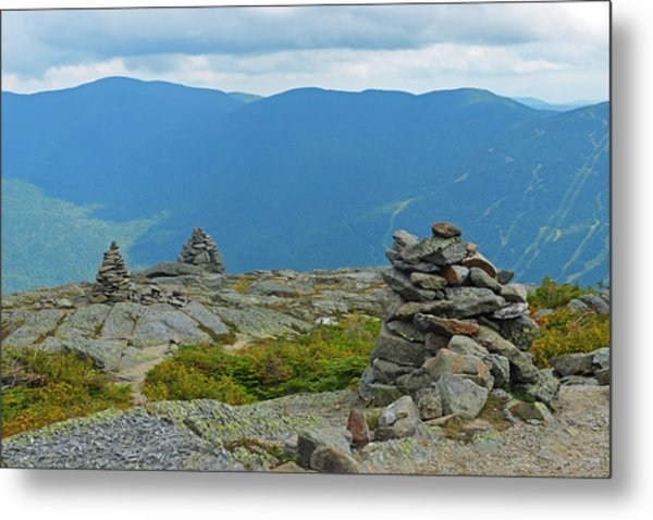 Mount Washington Rock Cairns Metal Print