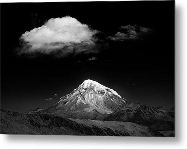 Mountain And Cloud Metal Print