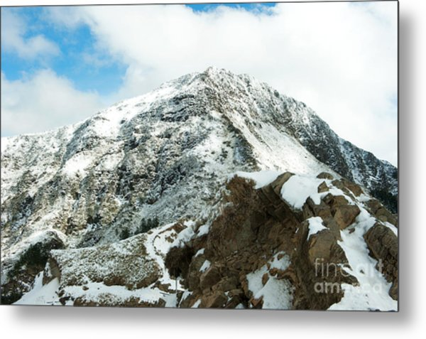 Mountain Covered With Snow Metal Print