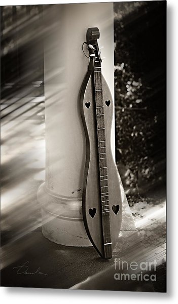 Mountain Dulcimer Metal Print
