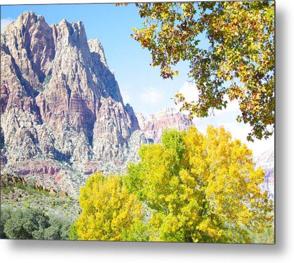Mountain Fall Delight Metal Print