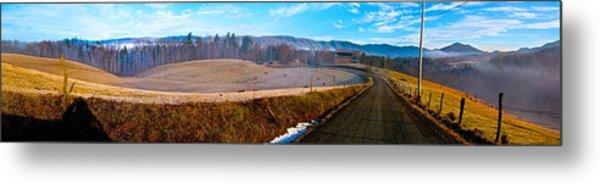 Mountain Farm Panorama Version 2 Metal Print