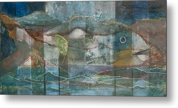 Mountain Fish Metal Print