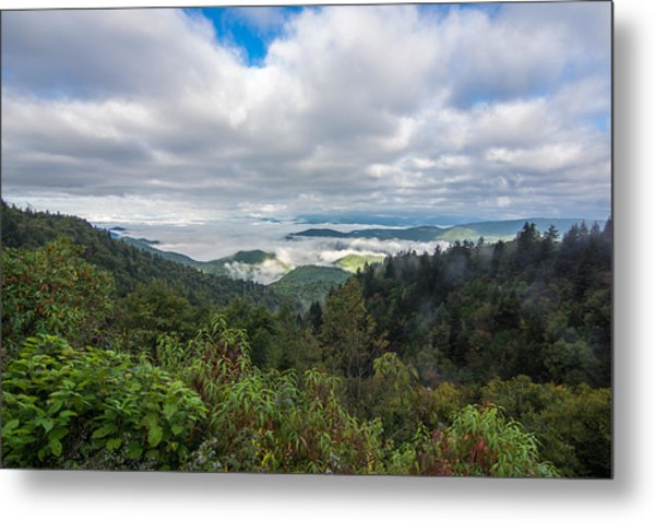 Metal Print featuring the photograph Mountain Fog by Francis Trudeau
