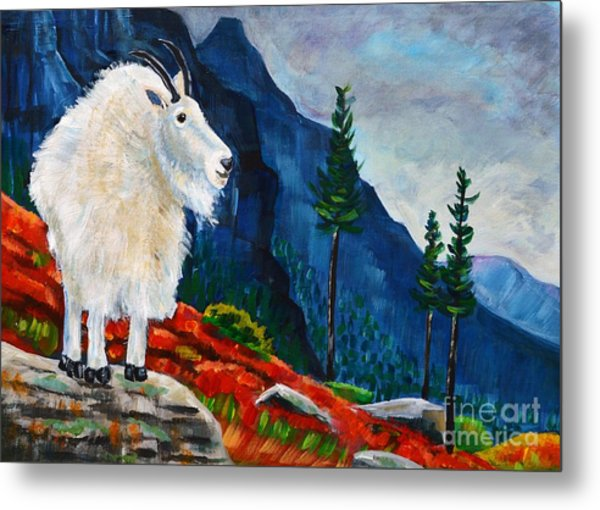 Mountain Goat Country Metal Print