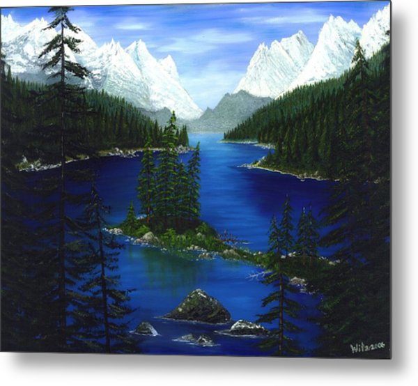 Mountain Lake Canada Metal Print