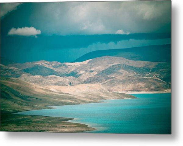 Mountain Lake In Tibet Peiku-tso Metal Print