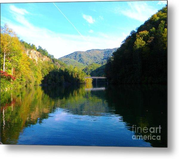 Mountain Lake Reflections Metal Print by Lorraine Heath