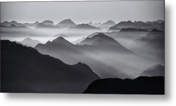Mountain Layers Metal Print by Ales Krivec