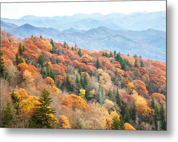 Mountain Layers Metal Print by Scott Moore